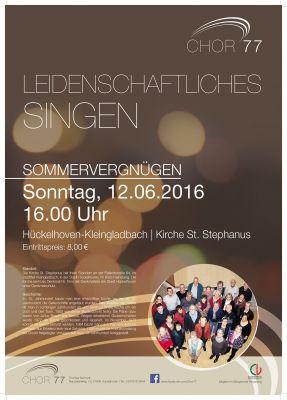 Chor77 Plakat