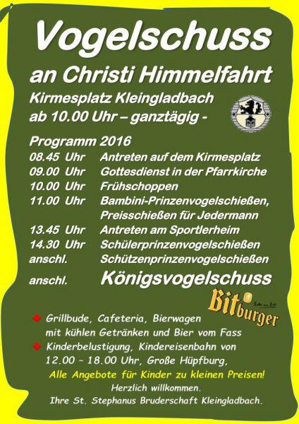 Plakat Vogelschuss